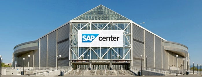 SAP Center at San Jose is one of JYM Hockey Arenas TOP100.
