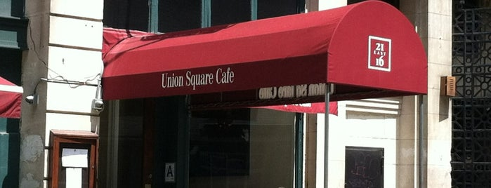 Union Square Cafe is one of NY Fundraiser Scavngr Hunt.