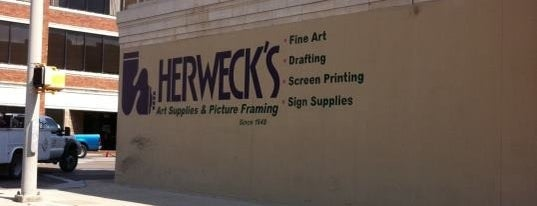 Herweck's Art Supplies is one of To-Do.