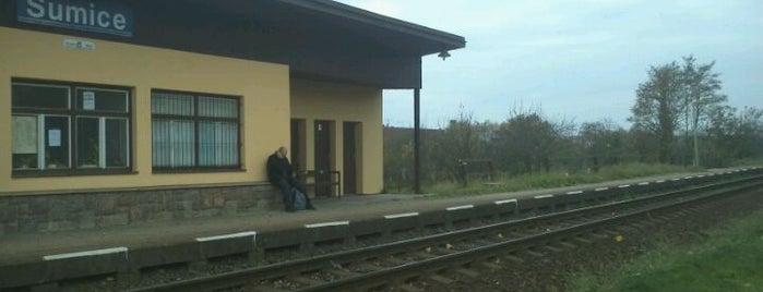 Železniční zastávka Šumice is one of Železniční stanice ČR: Š-U (12/14).
