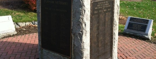 Veterans Memorial is one of UNH Landmarks.