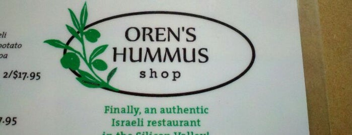 Oren's Hummus Shop is one of OrderAhead Restaurants.