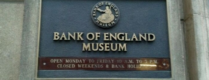 Bank of England Museum is one of London as a local.