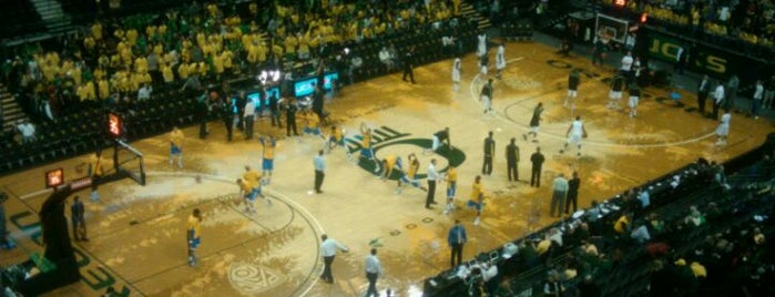 Matthew Knight Arena is one of Basketball Arenas of the Pac-12.
