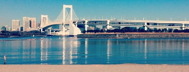 Odaiba Beach is one of swimmers.