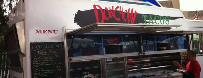 "Don Chow Tacos is one of ""Diners, Drive-Ins & Dives"" (Part 1, AL - KS)."