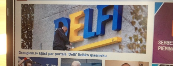 Delfi is one of Foursquare LV BrandPages HQ.