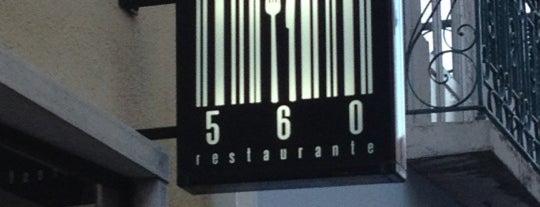 560 is one of Restaurantes com comida vegetariana.