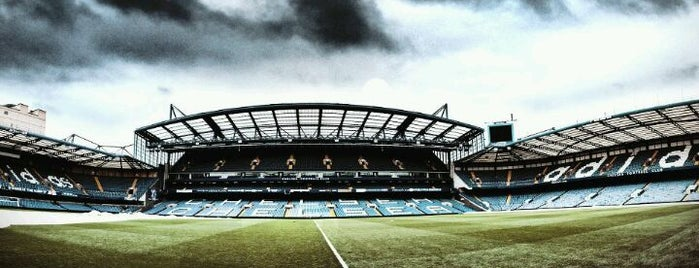 Stamford Bridge is one of Football grounds visited.