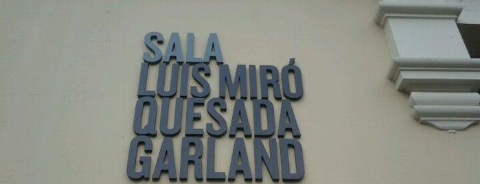 Sala Luis Miró Quesada Garland is one of Harto Arte Miraflores.