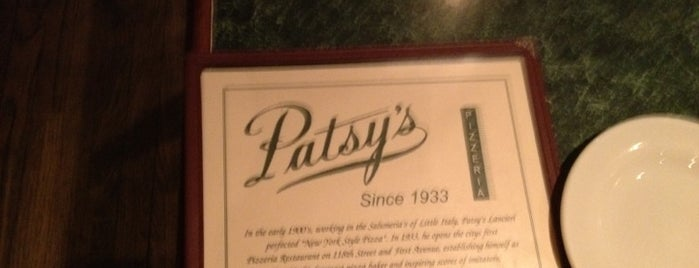Patsy's Pizzeria is one of mikemost's fave pizza joint list.
