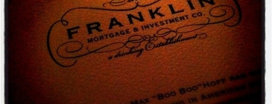 Franklin Mortgage & Investment Co. is one of Stevenson's Favorite Whiskey Bars.
