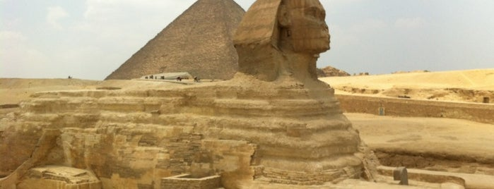 Great Sphinx of Giza is one of Top 10 Foursquare Check in Online List.