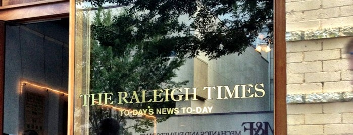 The Raleigh Times Bar is one of Top Raleigh Beer Bars.