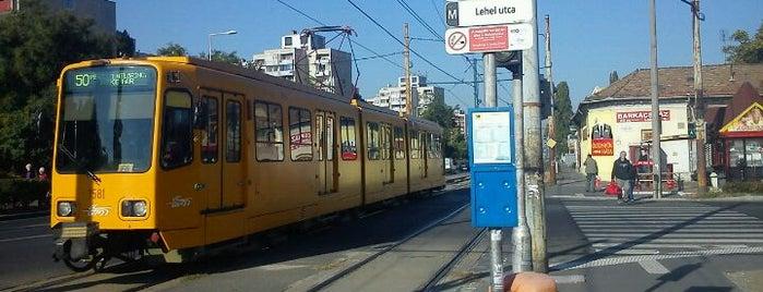 Lehel utca (50) is one of Pesti villamosmegállók.