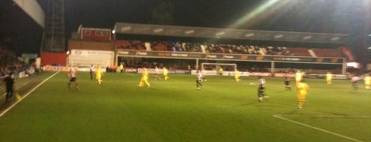 Griffin Park is one of Football grounds visited.