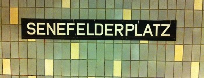 U Senefelderplatz is one of Besuchte Berliner Bahnhöfe.