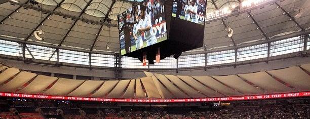 BC Place is one of การแข่งขันฟุตบอลนัดสำคัญ.
