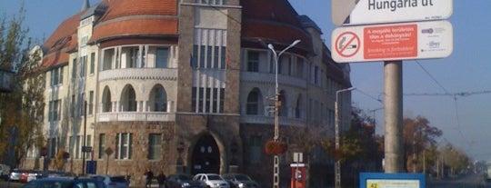 Hungária út (42) is one of Pesti villamosmegállók.