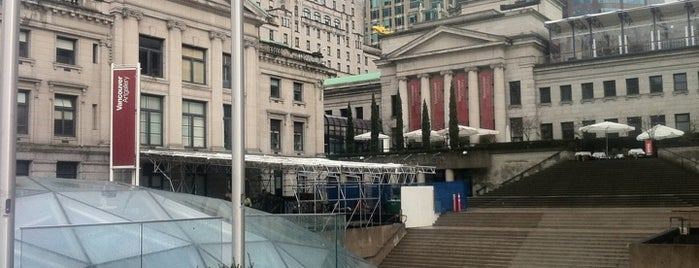 Robson Square is one of Vancouver.