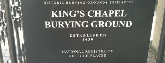 King's Chapel Burying Ground is one of Hub History.