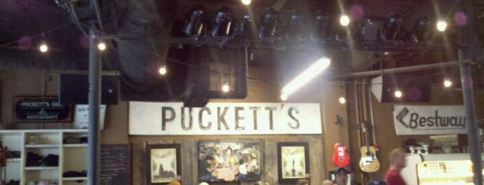 Puckett's Grocery & Restaurant is one of Nash Life.