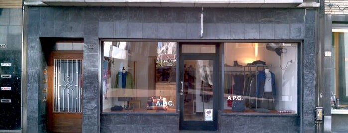 A.P.C. is one of Shopping loves Antwerp.