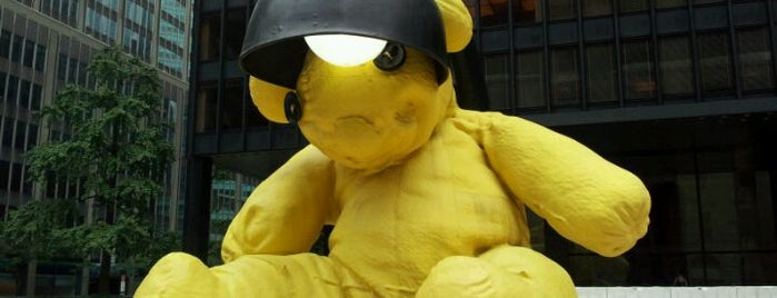 "The Big Yellow Teddy Bear is one of ""Be Robin Hood #121212 Concert"" @ New York!."