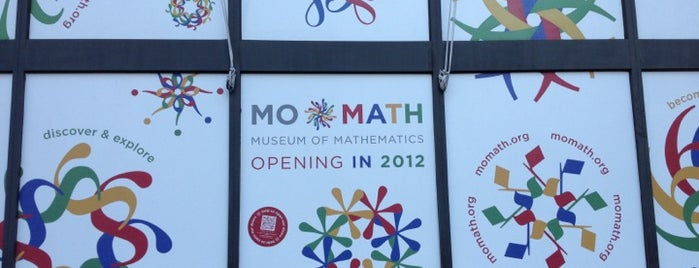 Museum of Mathematics (MoMath) is one of Ultimate NYC Nerd List.