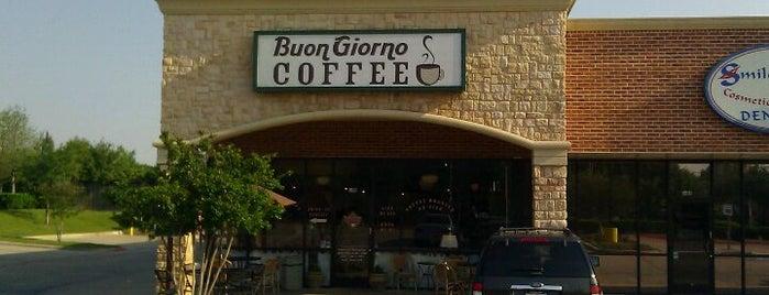 Buon Giorno Coffee is one of North Texas Caffeine Fix.