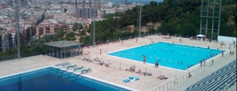 Piscina Municipal de Montjuïc is one of Best places for Jaw dropping views of Barcelona.
