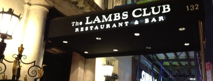 The Lambs Club is one of 20 favorite restaurants.
