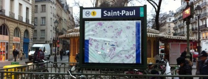 Métro Saint-Paul – Le Marais [1] is one of Métro de Paris.