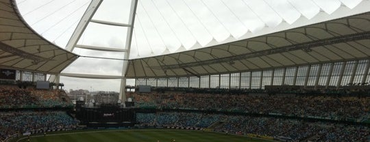 Moses Mabhida Stadium is one of Football Stadiums to visit before I die.