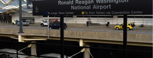 Ronald Reagan Washington National Airport Metro Station is one of WMATA Train Stations.