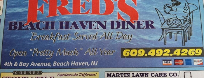 Freds Beach Haven Diner is one of The Best New Jersey Diners.