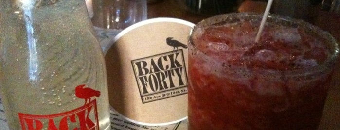 Back Forty is one of Eating New York City.