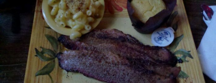 Honky Tonk BBQ is one of Six spots for barbecue.