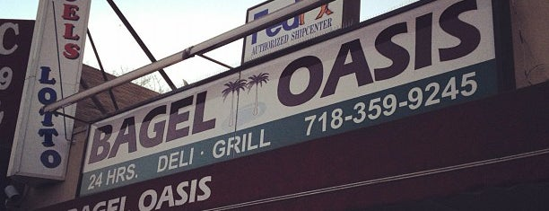 Bagel Oasis is one of Open 24-Hours.