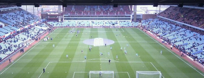 Villa Park is one of Football grounds visited.