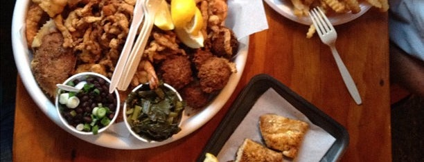 Singleton's Seafood Shack is one of food places to try.