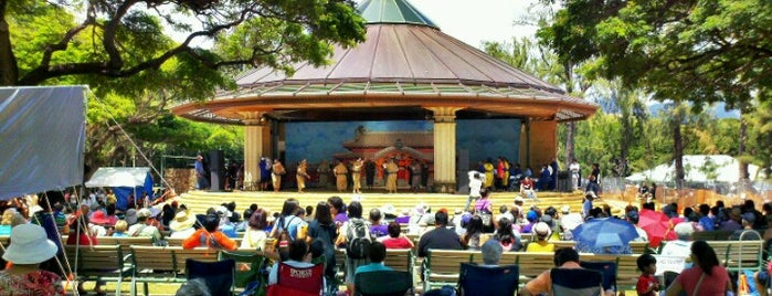 Kapiolani Park Bandstand is one of Favorites, Waikiki.