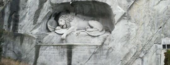 Löwendenkmal (Lion Monument) is one of Discover Lucerne.