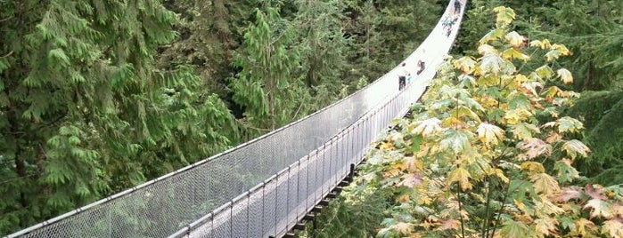 Capilano Suspension Bridge is one of Favorite Great Outdoors (Canadian West Coast).