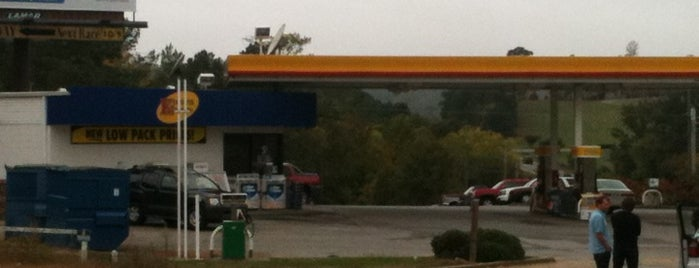 Shell is one of stores.