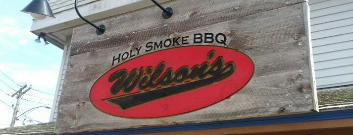 "Wilson's Holy Smoke BBQ is one of ""Diners, Drive-Ins & Dives"" (Part 1, AL - KS)."