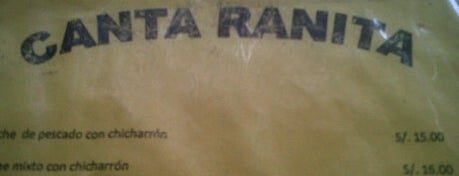 Canta Ranita is one of Restaurantes Imperdibles.