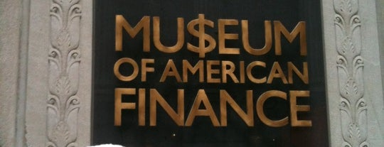 Museum of American Finance is one of NYC.