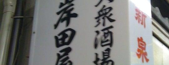大衆酒場 岸田屋 is one of 月島もんじゃレス.