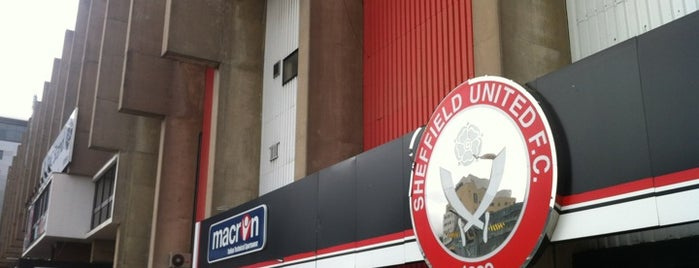 Bramall Lane is one of Football grounds visited.